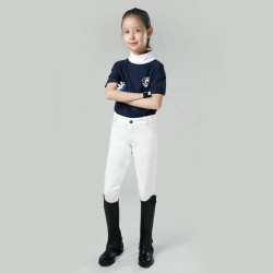 Kids Half-leather Breeches For Boys And Grils, Children Professional Horse Riding Pants Children's Equestrian Clothing Equipment