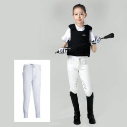 Kids Half Silicone Breeches, Butterfly Wing Silicone Design Non-slip Horse Riding Pants for Boys and Grils  - 4