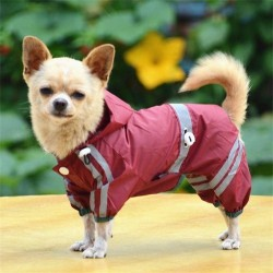 Pet Dog Rain Coats Jacket Waterproof Raincoat Jacket Clothes for Small Dogs Puppy French Bulldog Yorkie Chihuahua  - 1