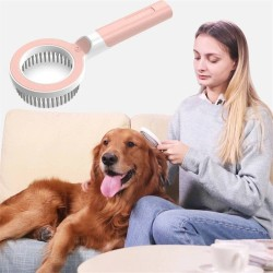 Dog Cat Creative Beauty Comb, 360 Degree And Multi-directional Modern Grooming Pet Rake Comb  - 1