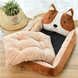 Pet Cartoon Kennel Winter Warn Dog Bed Cat Bed  - 4