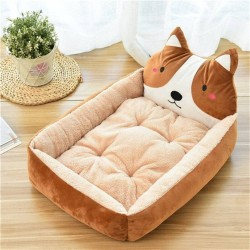 Pet Cartoon Kennel Winter Warm Dog Bed Cat Bed