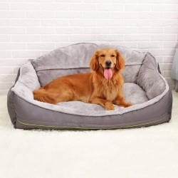 Pet Sofa Dog Bed Soft Fleece Winter Thicken Warm Bed Sleeping Cat Bed for Small Medium Large Dog  - 2