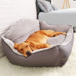 Pet Sofa Dog Bed Soft Fleece Bed Sleeping Cat Bed