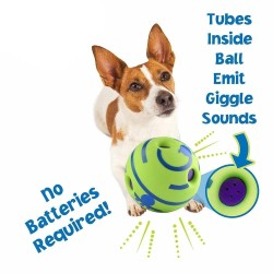 Dog Toy Fun Wobble Wag Giggle Ball Pet Cat Dog Toys Silicon Jumping Interactive Chew Toy Training Ball For Small Large Dogs  - 3