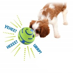 Dog Toy Fun Wobble Wag Giggle Ball Pet Cat Dog Toys Silicon Jumping Interactive Chew Toy Training Ball For Small Large Dogs  - 5