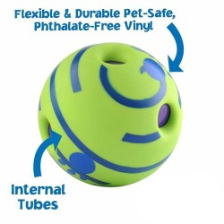 Dog Toy Fun Wobble Wag Giggle Ball Pet Cat Dog Toys Silicon Jumping Interactive Chew Toy Training Ball For Small Large Dogs  - 6