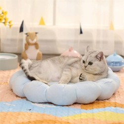 Cat Mat Bed Small Dog Bed Flower Shaped Pet Pillow Mattress Cat Sleeping Beds Puppy Cushion  - 1