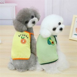 Dog Clothes Vest Strawberry Pet Clothing