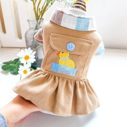 Dog Clothes Swimming Sun Duck Dress For Small Dog Puppy Cat