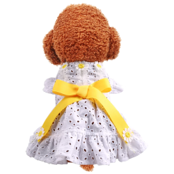 Dog Daisy Flower Cutout Classic Dress