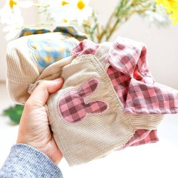 Dog Bear Plaid/Rabbit Plaid Overalls Clothes For Small Dog Puppy Pet Cat  - 9