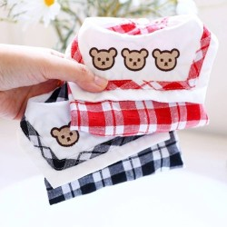 Dog Clothes Three Bears Plaid Dress/Shirt For Small Dog Puppy Pet Cat  - 7
