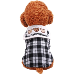 Dog Clothes Three Bears Plaid Dress/Shirt For Small Dog Puppy Pet Cat