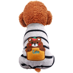 Dog Clothes Bear Striped Jacket Coat Zara - 1