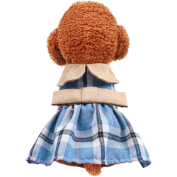 Dog Dress Embroidered Plaid Clothes Costume Princess Dresses Zara - 1