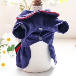 Dog College Style Bow Dress For Small Dog Puppy Pet Cat  - 4