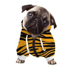 Pet Dog Hooded Sweatshirt Clothes Colorful Brief Stripe Design