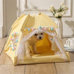 Dog Bed Cat Bed House Cat Tent Kennel Pet Beds Cat Hammock Foldable Summer  - 4