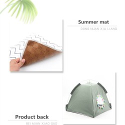 Dog Bed Cat Bed House Cat Tent Kennel Pet Beds Cat Hammock Foldable Summer  - 6