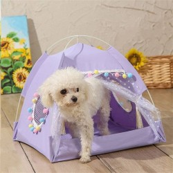 Dog Cat Bed House Girls Princess Dog Tent Nest Kennel Summer Pet Beds  - 3