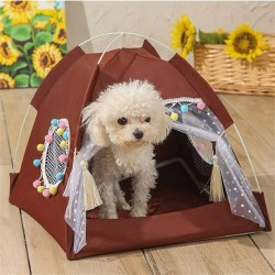 Dog Cat Bed House Girls Princess Dog Tent Nest Kennel Summer Pet Beds  - 4