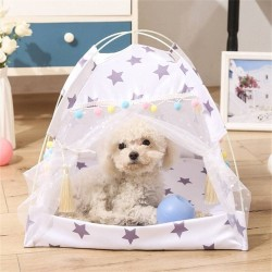 Dog Girls Princess Tent Nest Kennel Summer Pet Beds Dog Cat Bed House