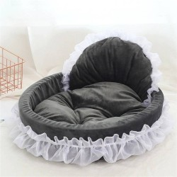 Luxury Dog Bed House Kennel Princess Lace Pet Bed Cat Bed  - 2