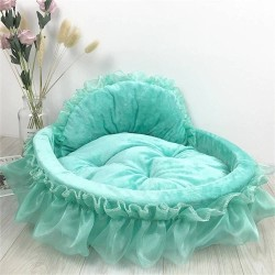 Luxury Dog Bed House Kennel Princess Lace Pet Bed Cat Bed  - 1