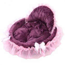 Luxury Dog Bed House Kennel Princess Lace Pet Bed Cat Bed  - 4