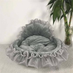 Luxury Dog Bed House Kennel Princess Lace Pet Bed Cat Bed  - 6