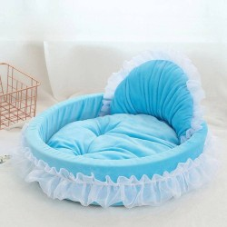 Luxury Dog Bed House Kennel Princess Lace Pet Bed Cat Bed  - 5