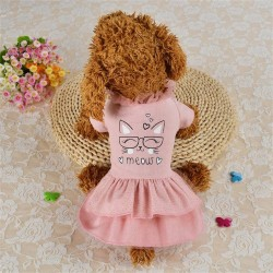 Dog Dress Pet Clothes Princess Wedding Puppy for Dogs Skirt Summer Dog Dresses  - 1