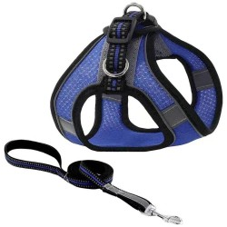 Pet Dog Harness Mesh Adjustable Dogs Harnesses Leash Suit