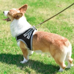 Dog Harness Adjustable Leashes Suit Reflective Mesh Pet Harnesses  - 11