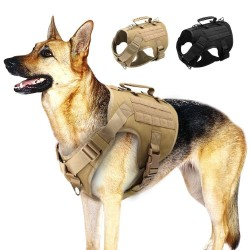 Tactical Dog Harness Pet Military Training Dog Vest German Shepherd Dog Harness  - 1