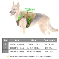 Tactical Dog Harness Pet Military Training Dog Vest German Shepherd Dog Harness  - 6