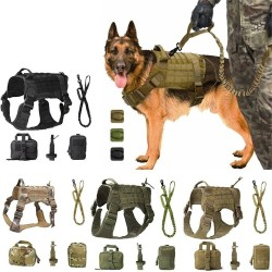 Tactical Service Dog Vest Military Training Hunting Adjustable Dog Harness  - 1