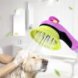 Pet Portable Bathing Tool Comfortable Massager Shower Dog Bath Sprayer Shampoo Pet Grooming Washing Bath Cleaner