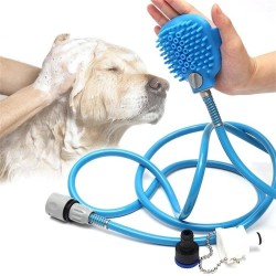 Pet Bathing Tool, Pet Shower Sprayer and Scrubber in-One, Multi-Functional Massage Brush, for Dog, Cat, Horse and Any Pet