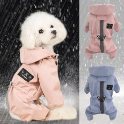 Dog Raincoat Reflective Waterproof Dog Jumpsuit Jacket Coat Clothes Dogs Hoodies Raincoats French Bulldog