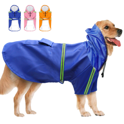 Pet Dog Raincoats Reflective Small Large Dogs Rain Coat Waterproof Jacket Clothes for Puppy French Bulldog  - 1