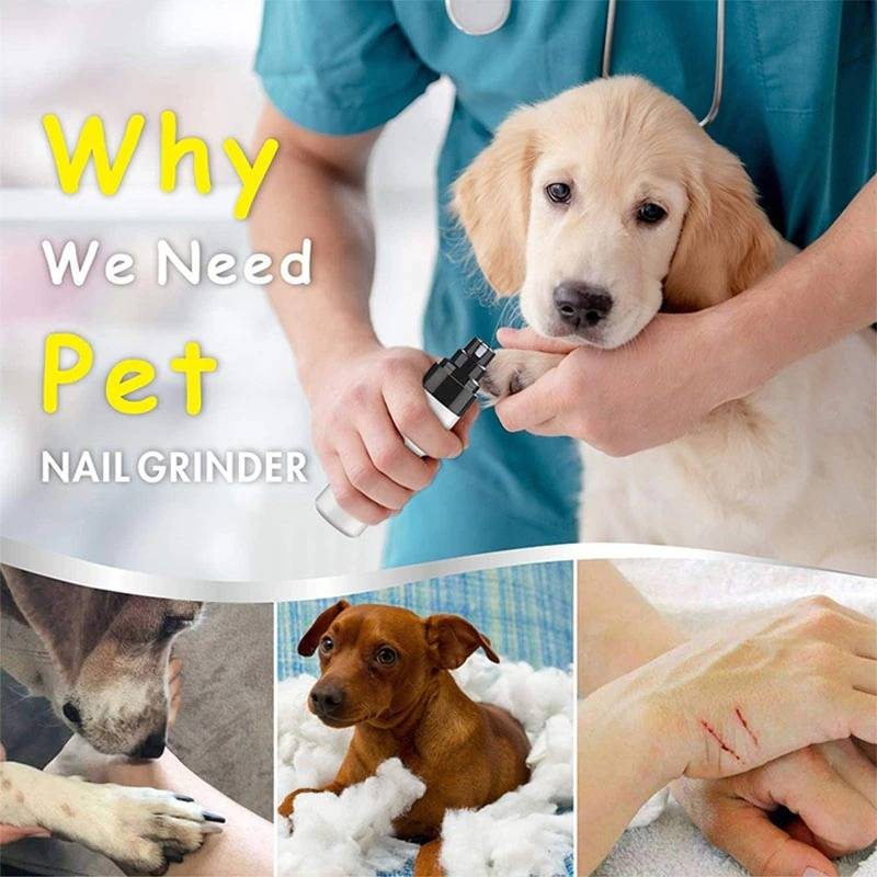 Dog Nail Clipper For Dogs Pet Cat Nail Clipper Nail Clipper USB Animal Grooming Trimmer Low Noise Grinder