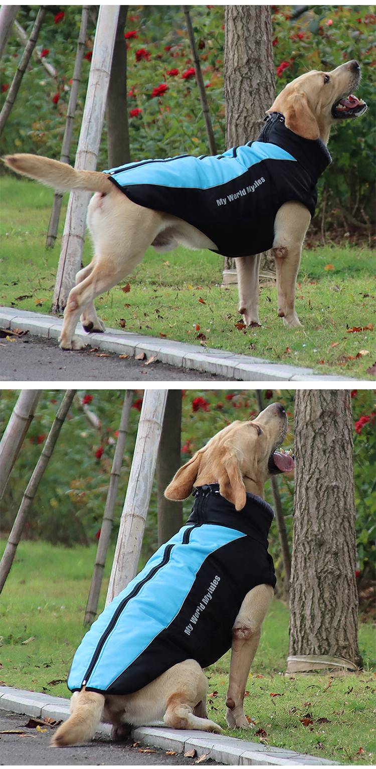 Dog Clothes Vest Waterproof Dog Winter Jackets Coats with Harness Reflective Sports Pet Clothing Outfit For Medium Large Dogs