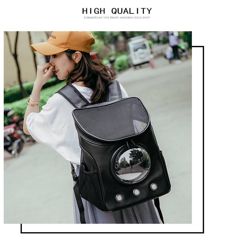 Pet Carrier Bag Astronaut Space Capsule Backpack for Small Dogs Cats