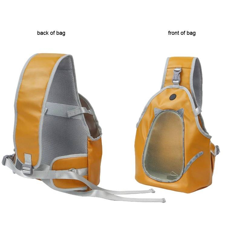 Pets Slings Carriers PU Bag Breathable Chest Backpack Outdoor Walking Pet Puppy Dog Shoulder Sling Bag For Small Dog Cat
