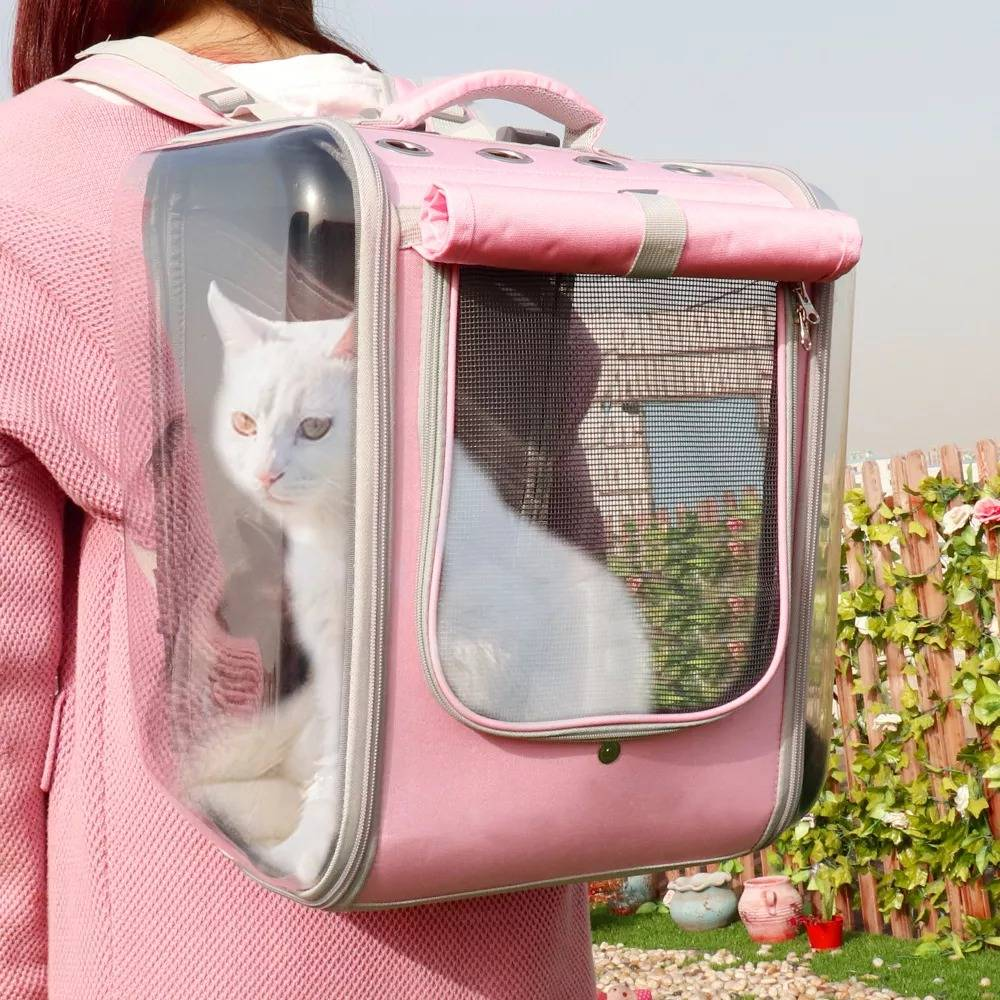 Dog Carrier Bag Portable Pet Outdoor Travel Breathable Backpack Reflective Carrier Bags for Dogs French Bulldog