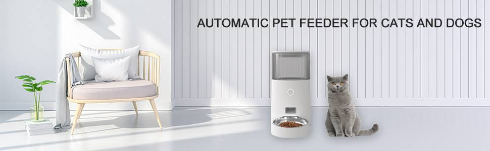 Pet Smart Automatic Feeder for Dog Cat Food Bowls WiFi Remote Intelligent Feeding 2 in 1 USB or Battery APP/IOS