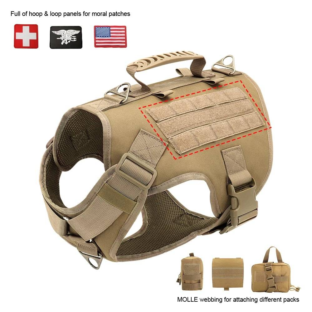 Tactical Dog Harness Pet Military Training Dog Vest German Shepherd Dog Harness