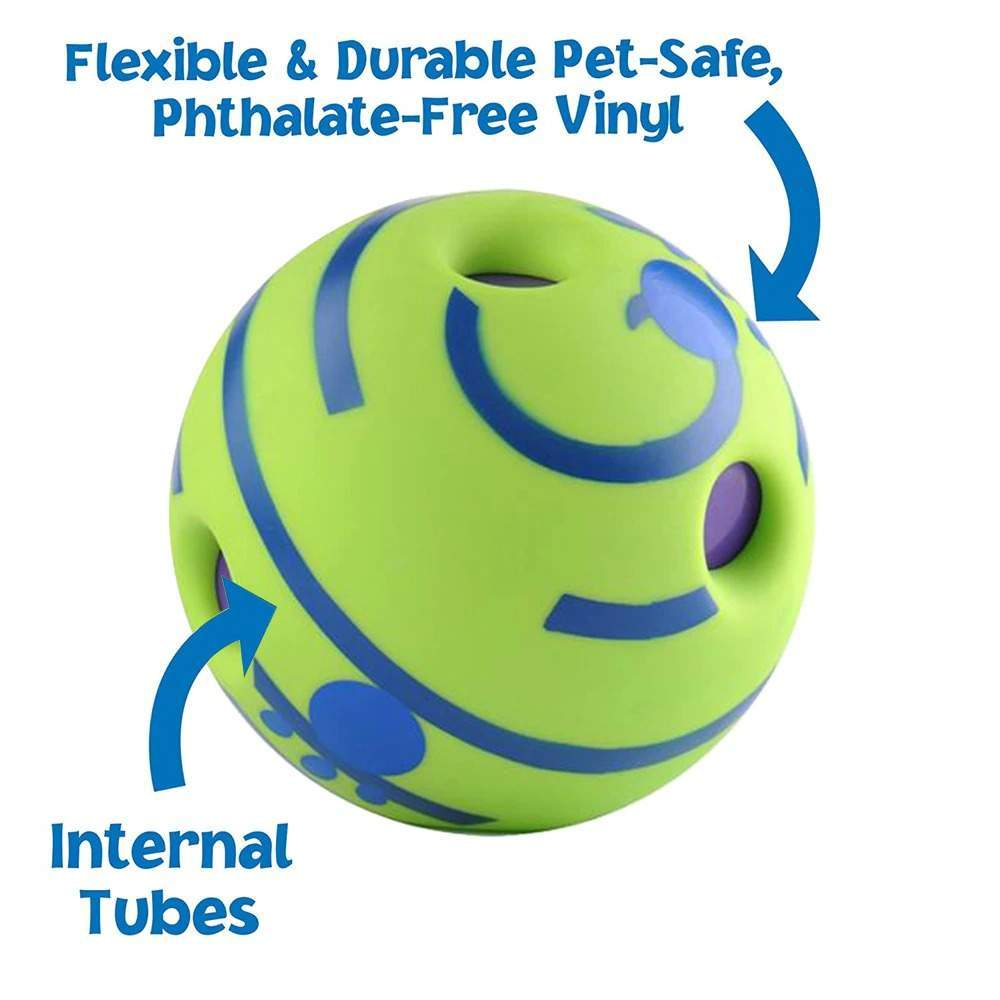 Dog Toy Fun Wobble Wag Giggle Ball Pet Cat Dog Toys Silicon Jumping Interactive Chew Toy Training Ball For Small Large Dogs
